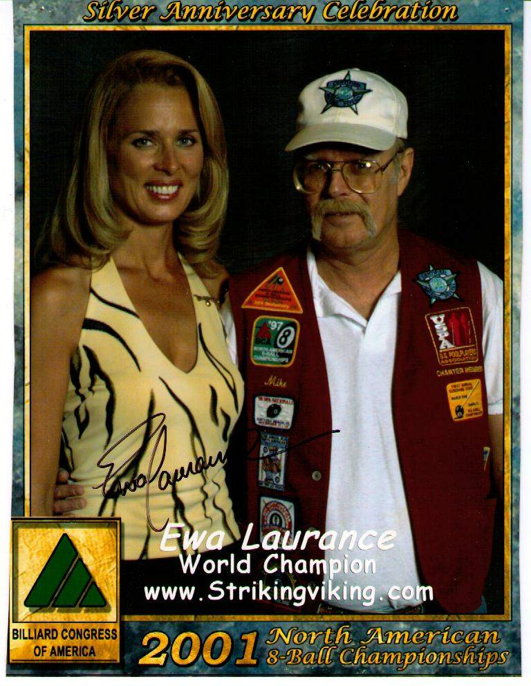 Mike Sprinkle and Ewa Laurance at the 2001 BCA National 8-ball Championships
